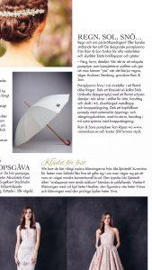 A wedding umbrella in a magazine