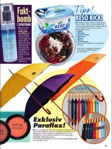 Rain and Son Umbrellas in a Magazine