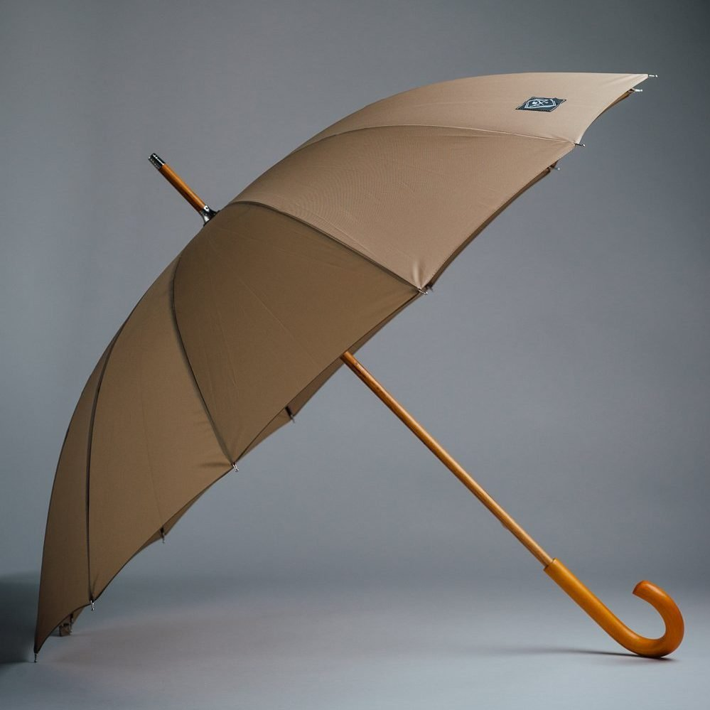 classic beige umbrella wooden