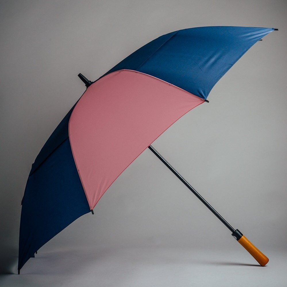 pink and dark blue umbrella for golf bags