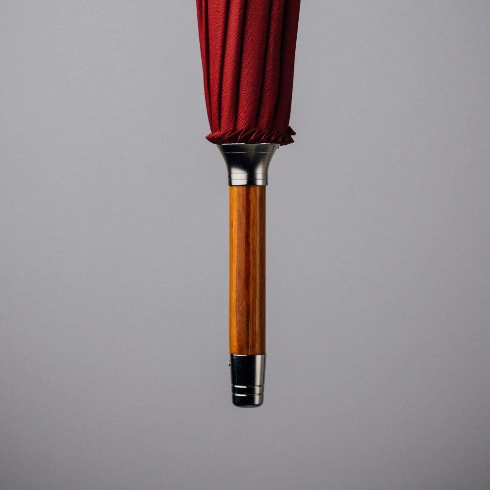 dark red umbrella wood and metal tip