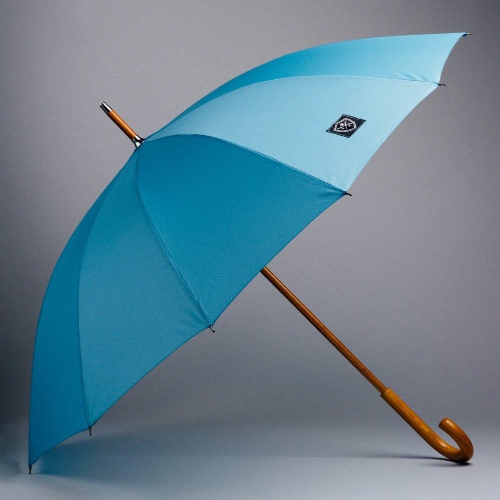 large umbrella blue and colourful