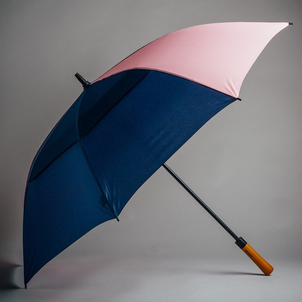 dark blue golfer umbrella