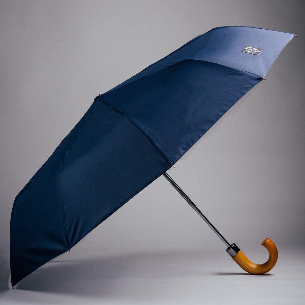 Mörkblått hopfällbart paraply