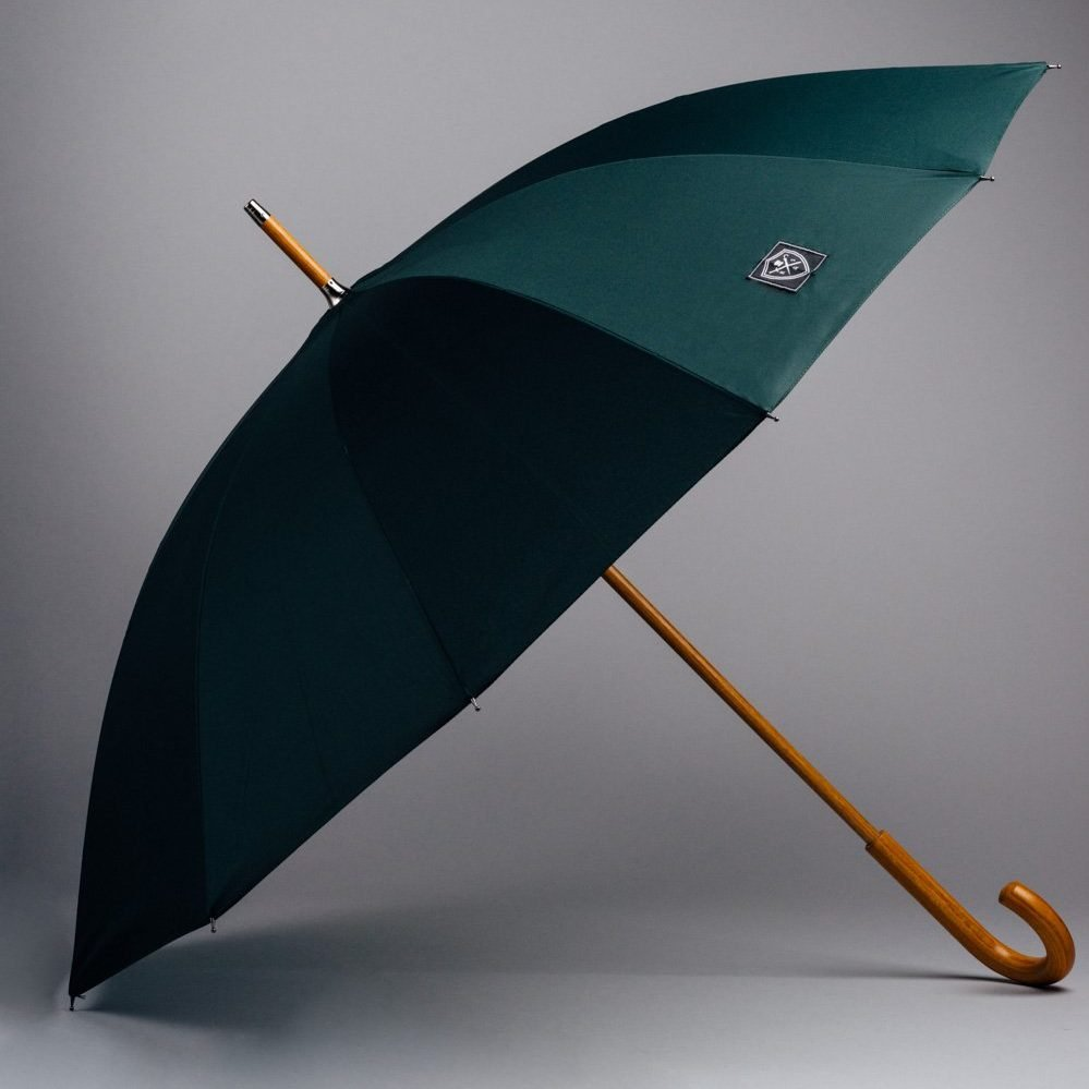 dark green large umbrella