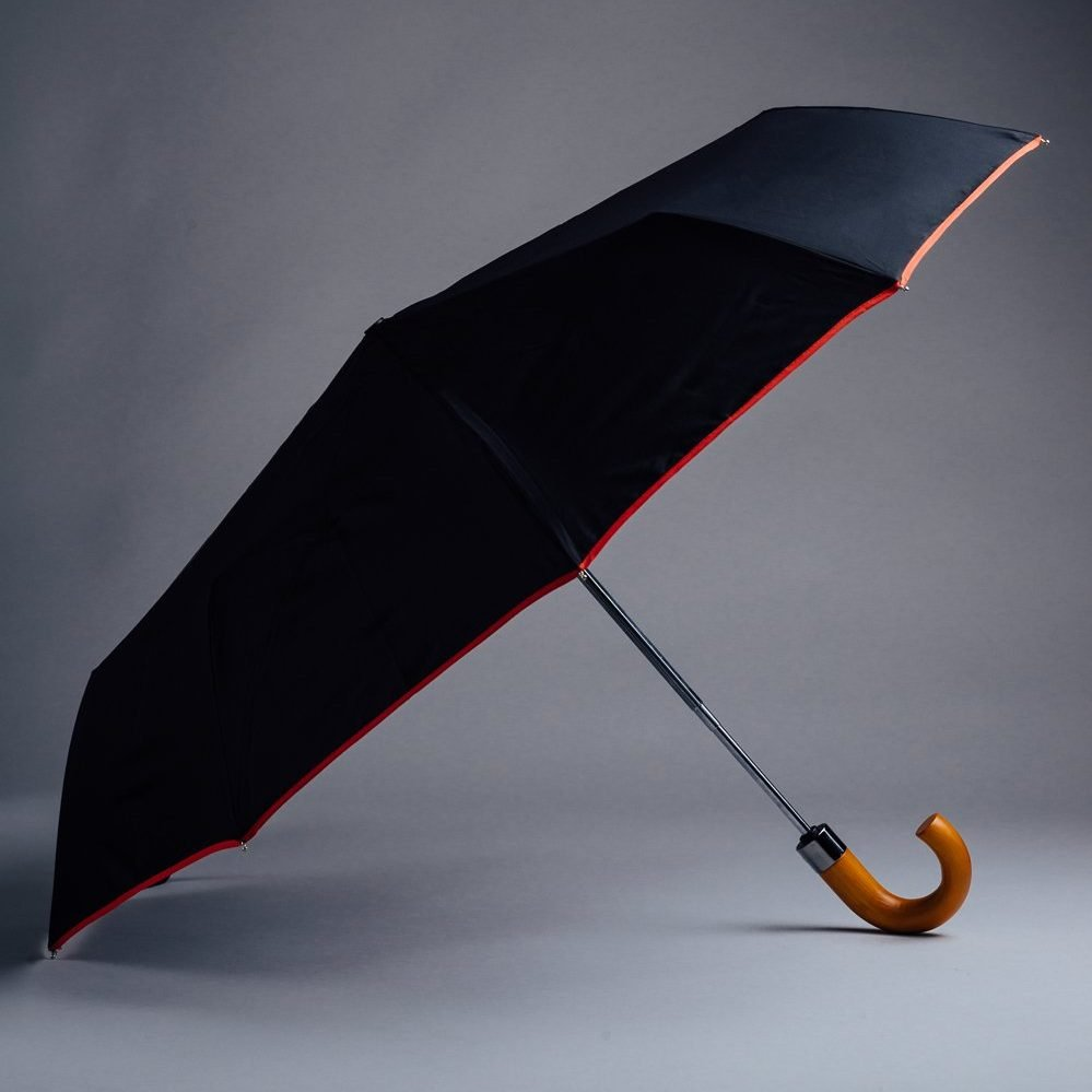 black reflective small umbrella