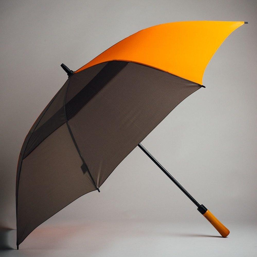 open golf umbrella black and orange