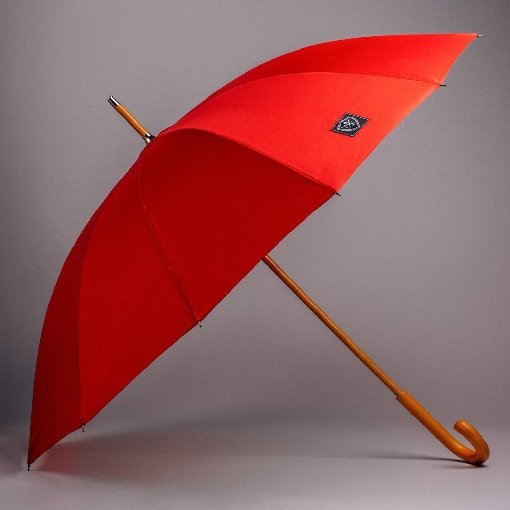 red designer umbrella