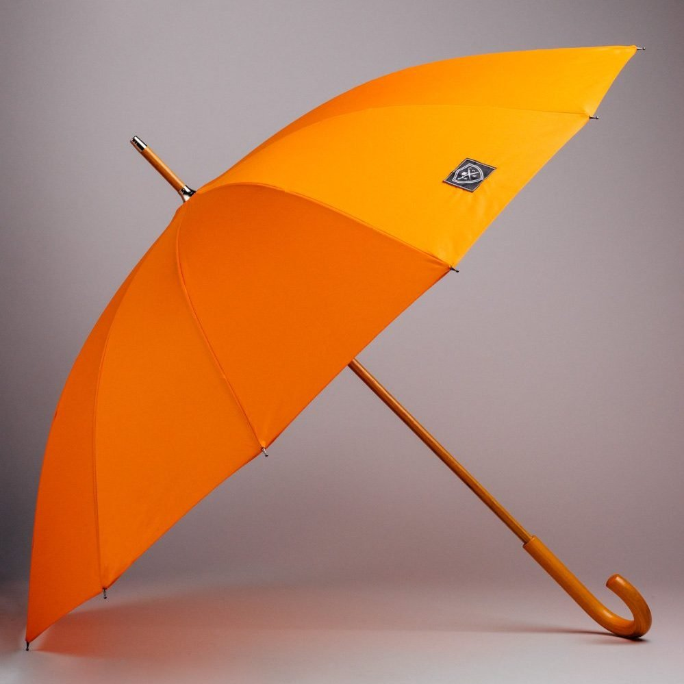 large designer umbrella in orange
