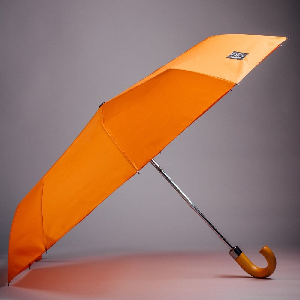rain and son orange umbrella