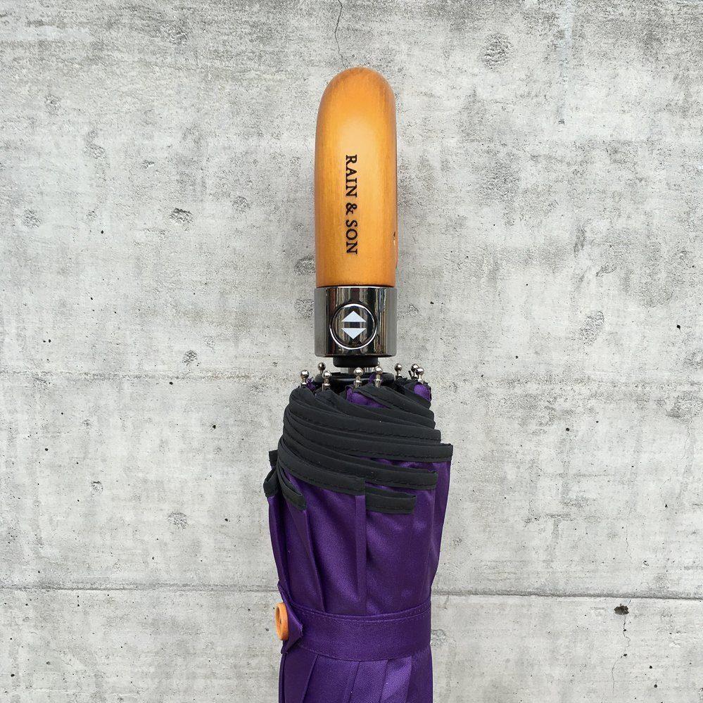 totes umbrella wooden handle