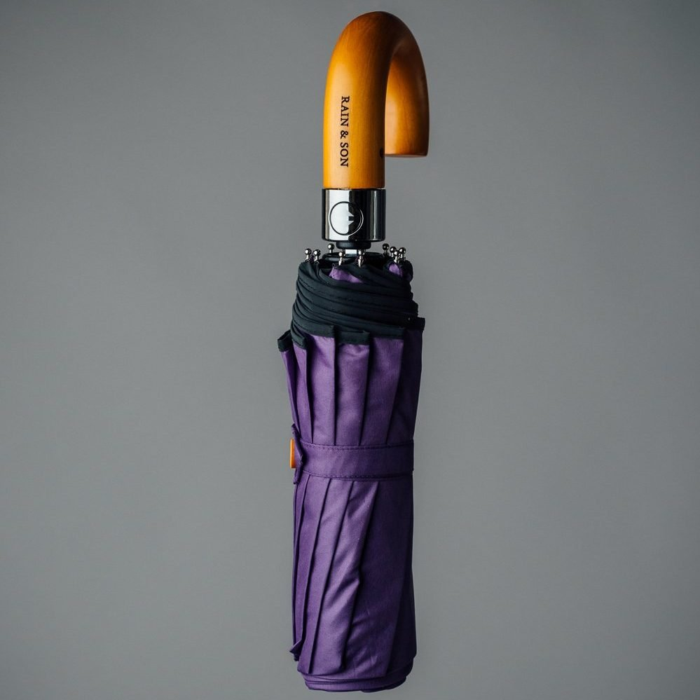 foldable purple umbrella