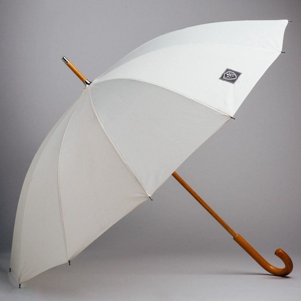 trendy white umbrella for weddings